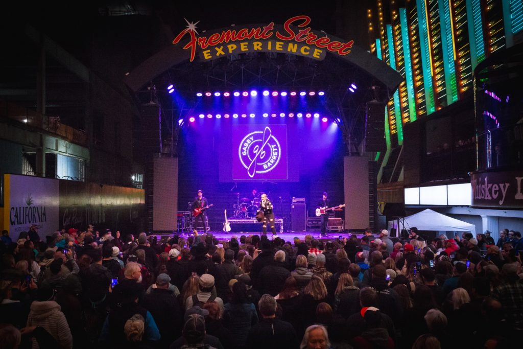 Fans gather at Fremont Street Experience for 33rd Annual Downtown Hoedown, 12.4.19