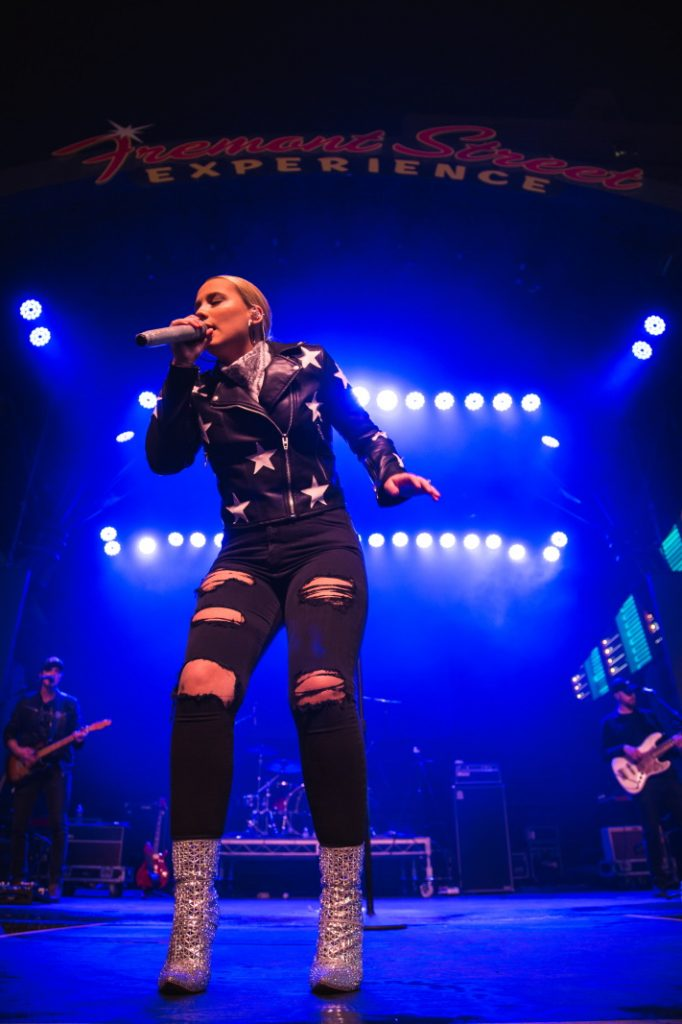 Gabby Barrett performs during Downtown Hoedown at Fremont Street Experience, 12.4.19