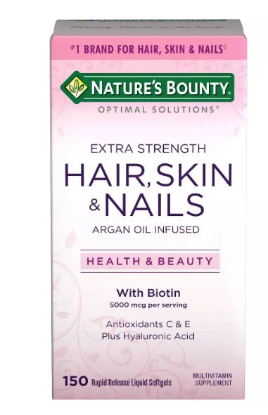Nature's Bounty Optimal Solutions Extra Strength Hair, Skin & Nails Liquid Soft-Gels