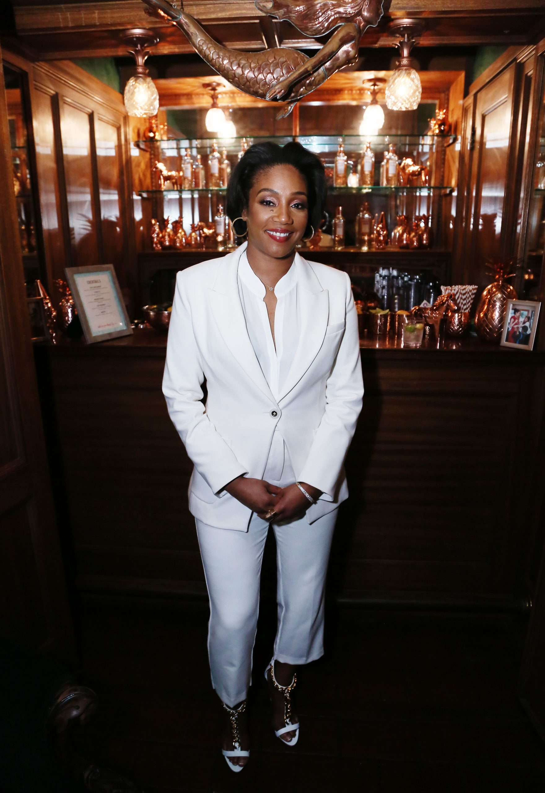 LOS ANGELES, CALIFORNIA - FEBRUARY 06: Tiffany Haddish attends Red Carpet Green Dress at the Private Residence of Jonas Tahlin, CEO of Absolut Elyx on February 06, 2020 in Los Angeles, California. (Photo by Gabriel Olsen/Getty Images for Absolut Elyx)