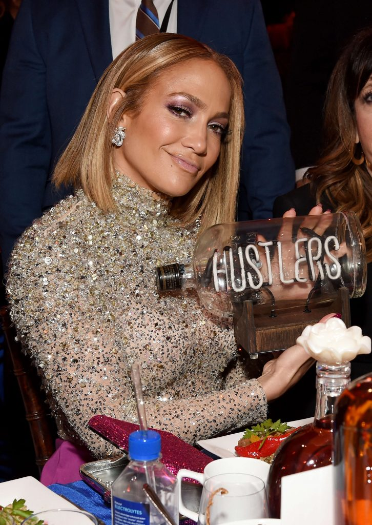 Bulleit celebrates Jennifer Lopez with a limited edition Bulleit NEON in A Bottle piece created by neon artist Lisa Schulte at the 2020 Film Independent Spirit Awards on February 08, 2020 in Santa Monica, California.