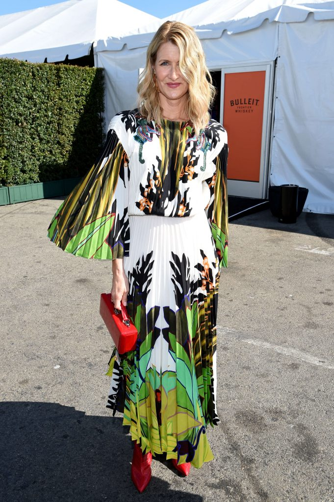Laura Dern outside the Bulleit Frontier Whiskey Arcade Lounge at the 2020 Film Independent Spirit Awards on February 08, 2020 in Santa Monica, California.