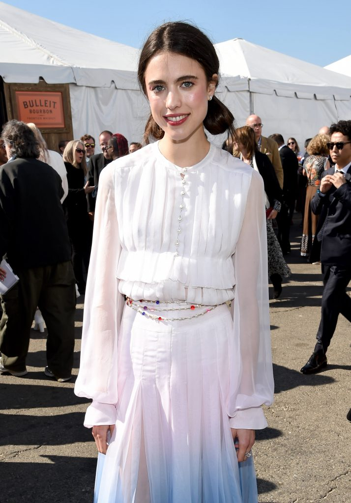 Margaret Qualley outside the Bulleit Frontier Whiskey Arcade Lounge at the 2020 Film Independent Spirit Awards on February 08, 2020 in Santa Monica, California.