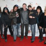 Six Gun Sal Band Members Matt G, Joey Durrant, Anthony Appello, Host Actor Vernon Wells, Dusty Lang, Ed Fierro, Mia Dunn on the Red Carpet at Six Gun Sal Event Photo Credit Sheri Determan