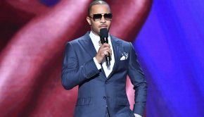 "Tip ""T.I."" Harris introduces Dolemite Is My Name at the 51st NAACP Image Awards."